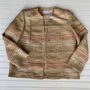 Alfred Dunner Blazer Jacket, Lined, Gold Tan, 12